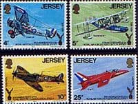 Jersey 1975 Royal Air Forces Association Set Fine Mint