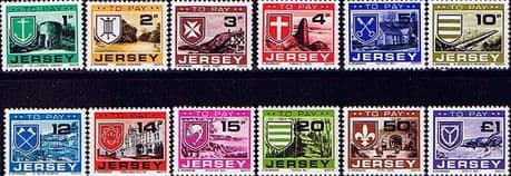 Postage Stamps Jersey 1978 Post DueSet Fine Mint