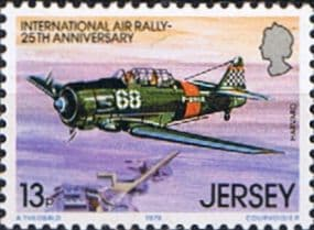 Postage Stamps Jersey 1979 International Air Rally SG 21 Scott