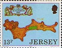 Jersey 1980 Fortresses SG 224 Fine Mint