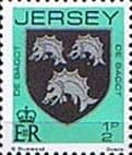 Postage Stamps Jersey 1981 Arms of Jersey Families Fine Mint SG 249 Scott 246