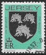 Jersey 1981 Arms of Jersey Families SG 249 Fine Used