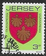 Jersey 1981 Arms of Jersey Families SG 252 Fine Used