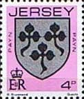 Postage Stamps Jersey 1981 Arms of Jersey Families SG 253 Fine Mint Scott 250