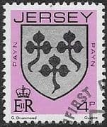 Jersey 1981 Arms of Jersey Families SG 253 Fine Used