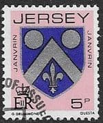 Jersey 1981 Arms of Jersey Families SG 254 Fine Used