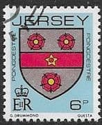 Jersey 1981 Arms of Jersey Families SG 255 Fine Used