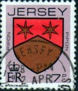 Jersey 1981 Arms of Jersey Families SG 256 Fine Used