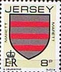 Jersey 1981 Arms of Jersey Families SG 257 Fine Mint
