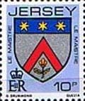 Postage Stamps Jersey 1981 Arms of Jersey Families SG 259 Fine Mint Scott 256