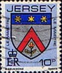 Jersey 1981 Arms of Jersey Families SG 259 Fine Used