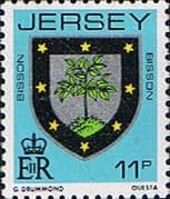 Jersey 1981 Arms of Jersey Families SG 260 Fine Mint