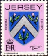 Postage Stamps Stamp Jersey 1981 Arms of Jersey Families SG 260 Fine Mint Scott 257