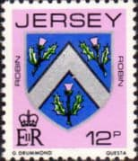 Jersey 1981 Arms of Jersey Families SG 261 Fine Mint