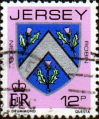 Jersey 1981 Arms of Jersey Families SG 261 Fine Used