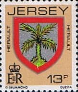Jersey 1981 Arms of Jersey Families SG 262 Fine Mint