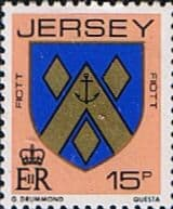 Postage Stamps Stamp Jersey 1981 Arms of Jersey Families SG 264 Fine Mint Scott 261