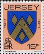 Jersey 1981 Arms of Jersey Families SG 264 Fine Mint