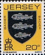 Jersey 1981 Arms of Jersey Families SG 267 Fine Mint