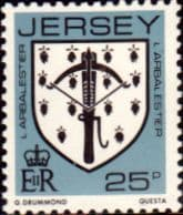 Jersey 1981 Arms of Jersey Families SG 268 Fine Mint
