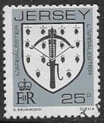 Jersey 1981 Arms of Jersey Families SG 268 Fine Used