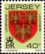 Jersey 1981 Arms of Jersey Families SG 270 Fine Mint