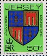 Jersey 1981 Arms of Jersey Families SG 271 Fine Mint