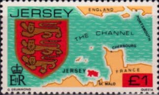 Stamp Postage Stamps Jersey 1981 Arms of Jersey Families SG 271 Fine Mint Scott 266