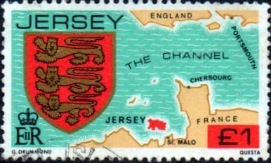 Jersey 1981 Arms of Jersey Families SG 273 Fine Used
