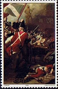 Stamp Postage Stamps Jersey 1981 Battle of Jersey Painting Fine Mint SG 246 Scott 24
