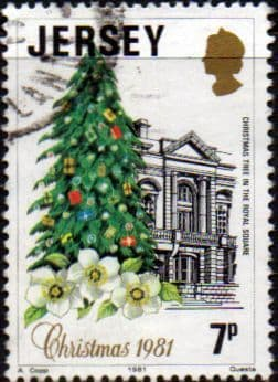 Postage Stamps Stamp Jersey 1981 Christmas Set Fine Mint