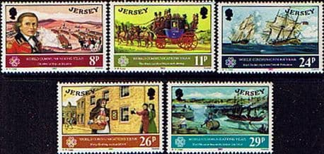 Postage Stamps Stamp Jersey 1983 World Communications Year Fine Mint