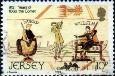 Jersey 1986 King Harold, William of Normandy and Halley's Comet, 1066 SG 383 Fine Used