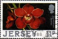 Jersey 1988 Orchids SG 433 Fine Used