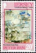 Jersey 1991 Christmas Peter Pan SG 565 Fine Used