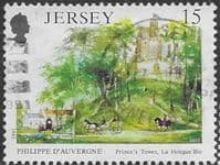 Jersey 1991 Death Anniversary of Philippe d'Auvergne SG 539 Fine Used