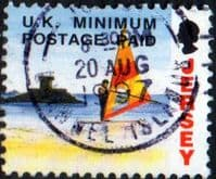 Jersey 1993 Postage Paid SG 606 Fine Used