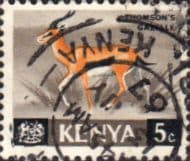 Postage Stamps Kenya 1966 Republic Animals Thomson's Gazelle SG 20 Fine Used Scott