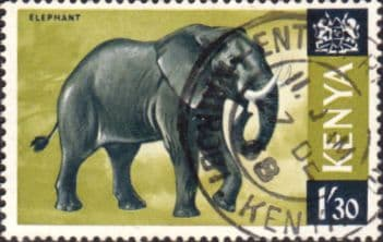 Postage Stamps Kenya 1966 Republic Animals African Elephant SG 30 Fine Used Scott