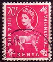 Stamp Postage Stamps Kenya Uganda Taganyika 1960 Animals and Plants SG 186 Fine Used Scott 123