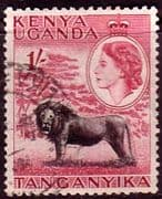 Kenya Uganda and Taganyka 1954 Animals SG 175 Fine Used