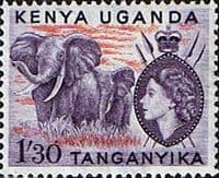 Kenya Uganda and Taganyka 1954 Animals SG 176 Fine Mint