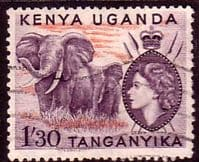 Kenya Uganda and Taganyka 1954 Animals SG 176 Fine Used