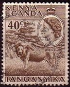 Kenya Uganda and Taganyka 1954 Lion SG 172 Fine Used