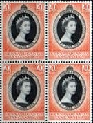 Kenya Uganda and Tangnyika Queen Elizabeth II 1953 Coronation Fine Mint Block of 4