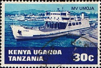 Stamp Postage Stamps Kenya Uganda Tanzania 1969 Water Transport SG 256 Fine Used Scott 193