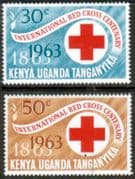 Kenya Uganda Tanganyika  1963 Red Cross Centenary Set Fine Mint
