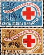 Kenya Uganda Tanganyika  1963 Red Cross Centenary Set Fine Used