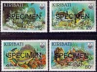 "Kiribati 1985 Reef Fish ""SPECIMEN"" Set Fine Mint"