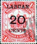 Labuan 1895 North Borneo Overprint SG 77 Fine Used